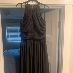 Black, Floor Length Bridesmaid/Formal Dress
